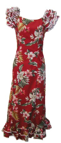 6a7156d18c2b Classical Dance Hawaiian Dress$95.00. Tropical Red. Heliconia White