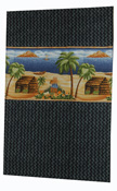 Hawaiian Cotton Island Village Black  Lava