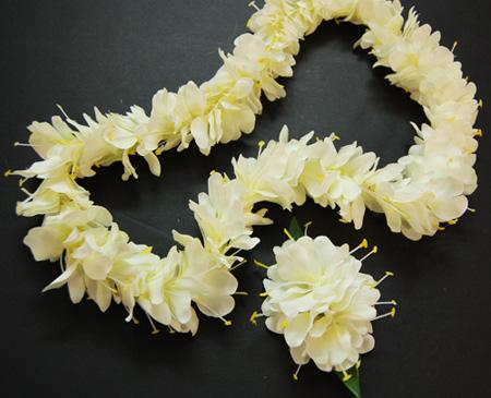 Ginger White Flower Lei Da808style
