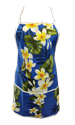 Hawaiian Simple Blue Plumeria Flower Apron