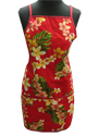 Hawaiian Simple Plumeria Lei Red Apron